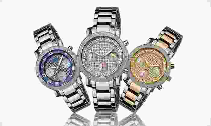 Akribos XXIV Men's and Ladies' Diamond Quartz Watches: Akribos XXIV Men's and Women's Watches (Up to 92% Off). 9 Styles Available.