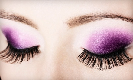 Full Set of Human-Hair Flare Eyelash Extensions (a $120 value) - The Wellness Spot in Concord