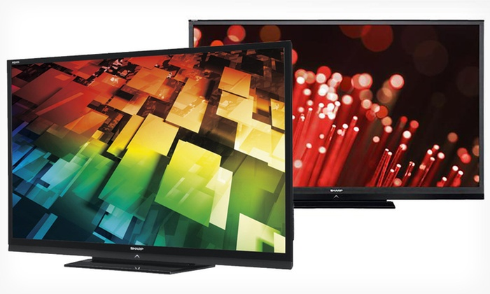 "Sharp 60"" and 70"" Refurbished LED HDTVs: Sharp 60"" and 70"" Refurbished LED 1080p HDTVs (Up to 70% Off). Five Options Available. Free Shipping."