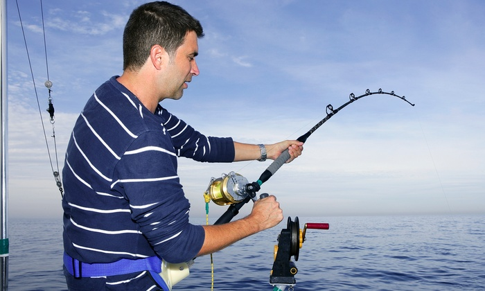 Full day fishing trip pastime princess groupon for Deep sea fishing new smyrna beach