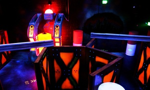 Red Zone Adventures: Two Laser-Tag Games, Two Laser-Maze Trips, and Five Arcade Tokens at Red Zone Adventures (53% Off)