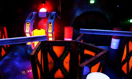 Two Laser-Tag Games, Two Laser-Maze Trips, and Five Arcade Tokens at Red Zone Adventures (43% Off)