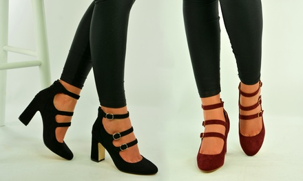 High Heel Pumps with Straps