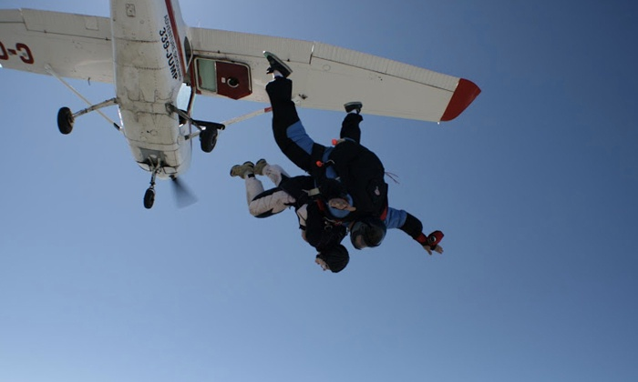 Adventure Skydiving - Corman Air Park: C$199 for a Tandem Jump at Adventure Skydiving (Up to C$279 Value)