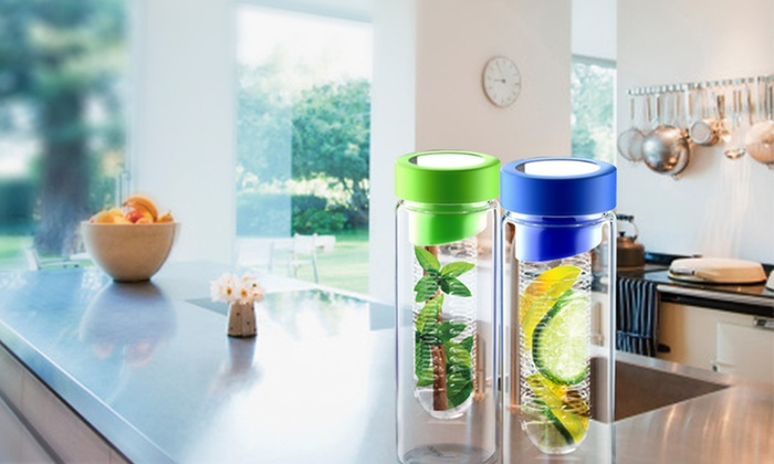 Two-Pack of Flavour It Fruit-Infuser Water Bottles: $24.99 for Two Flavour It Fruit-Infuser Bottles ($60 List Price). Multiple Colours Available.