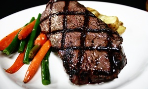 Steel Creek: $17 for $30 Worth of Steaks and Comfort Food for Dinner for Two at Steel Creek