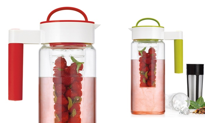 3-in-1 Infuser Pitcher: 56 Fl. Oz. 3-in-1 Infuser Pitcher in Lime or Red. Free shipping.