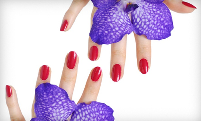 His & Hers Hair Studio - Leavenworth: One or Three Shellac Manicures at His & Hers Hair Studio (Up to 57% Off)