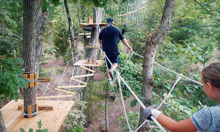 The Adventure Park at Sandy River Retreat - 201: Three-Hour Aerial Obstacle-Course Session for One at The Adventure Park at Sandy River Retreat (Half Off)