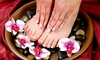 Angel Tips - Botany Section: Regular or Gel Manicure, Lemon Pedicure, and Eyebrow, Lip, or Chin Wax at Angel Tips (Up to 56% Off)