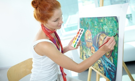 Three-Hour BYOB Painting Class for One or Two at Pinot's Palette (Up to 50% Off)
