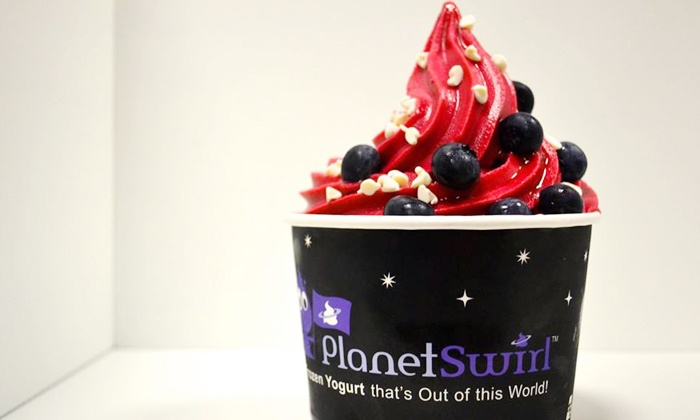 Planet Swirl Frozen Yogurt - Wallingford: Frozen Yogurt or Birthday Party for 10 at Planet Swirl (Up to 52%Off). Three Options Available.