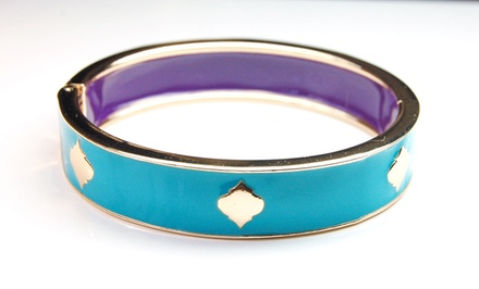 Landau Bracelet in Enamel Bangle or Twisted-Cable Style. Multiple Designs Available.