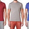 NLA Men's Fitted Premium Cotton-Blend Crew-Neck T-Shirts