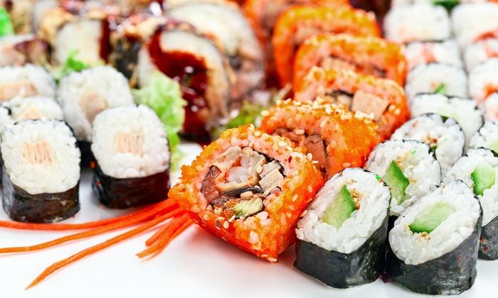sushi men f r zwei take sushi by masa groupon. Black Bedroom Furniture Sets. Home Design Ideas