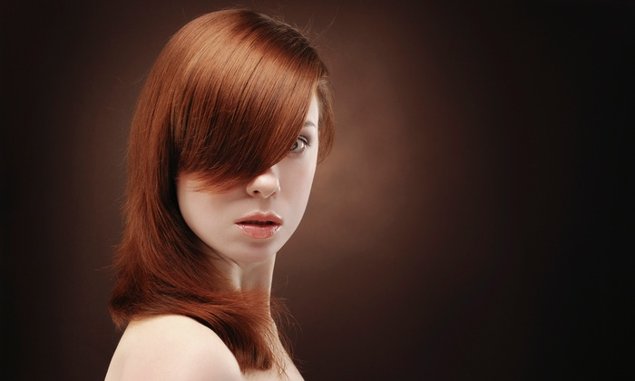 Gemmette Hair Studio - New York: Haircut Package with Optional Partial Highlights or Express Keratin Treatment at Gemmette Hair Studio (Up to 74% Off)