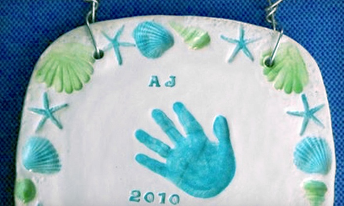 Clay Owen Studios - Taku / Campbell: $39 for Ceramics Class to make a Baby Hand and Foot Print Tile at Clay Owen Studios ($85 Value)