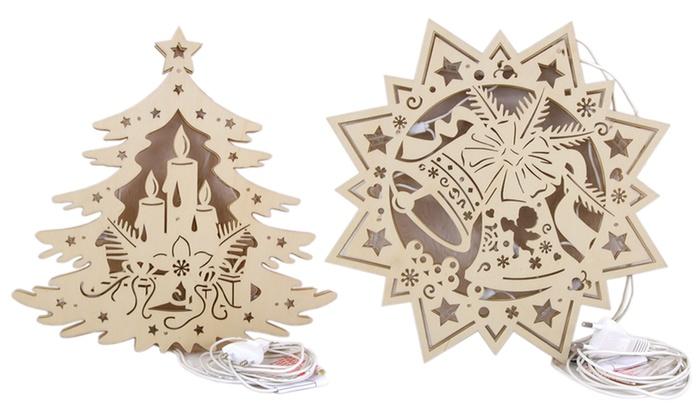 weihnachts fensterbilder aus holz groupon goods. Black Bedroom Furniture Sets. Home Design Ideas