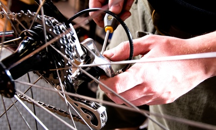 Bicycle Tune-Up with Optional T-Shirt and Patch Kit at The Bicycle Clinic (Up to 60% Off)