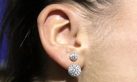 GROUPON: Sterling Silver Swarovski Elements Double Crystal ... Sterling Silver Swarovski Elements Double Crystal Ball Earrings