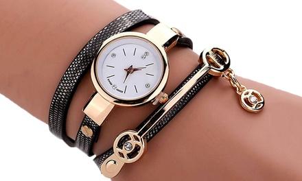 Montre-Bijou double bracelet effet serpent, coloris au choix, à 12,90 €