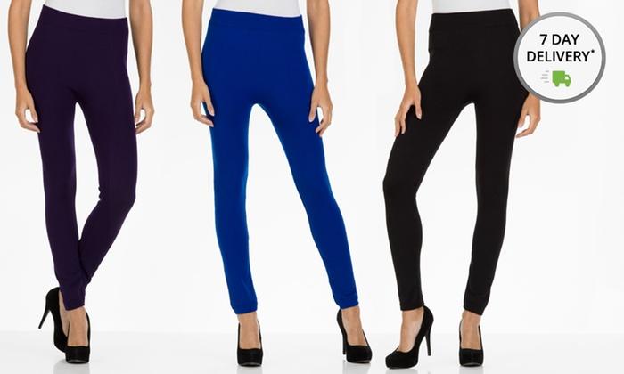 Women's Fleece Lined Ankle Leggings: Women's Fleece Lined Ankle Leggings. Multiple Options Available. Free Returns.