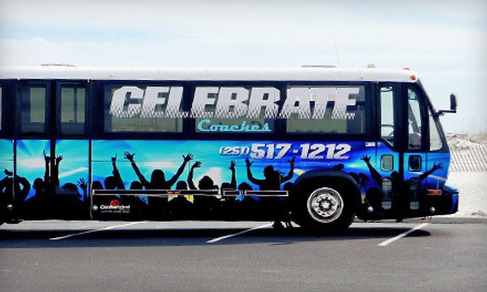 Celebrate Charters - Mobile / Baldwin County: Four- or Six-Hour Luxury-Party-Bus Rental for Up to 30 from Celebrate Charters (Up to 56% Off)