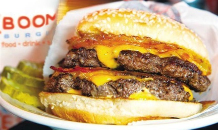 Burger Meal with Fries, Cupcakes, and Drinks for Two or Four at ((Boom)) Burger (Up to 51% Off)