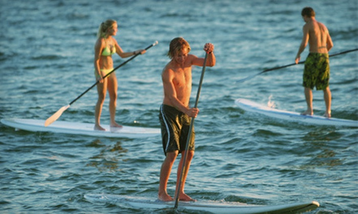 What's Up Stand Up Paddleboard Surf Company - Townsite: One or Two Standup-Paddleboard Lessons from What's Up Stand Up Paddleboard Surf Company (Up to 58% Off)