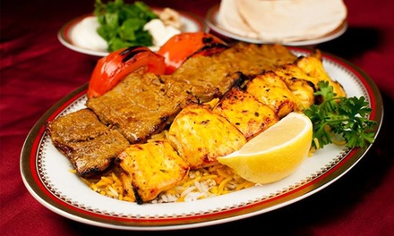 Persian Cuisine at Shandeez Grill Restaurant (Up to 40% Off). Four Options Available.
