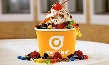 $16.50 for Three Groupons, Each Good for $10 Worth of Frozen Yogurt at Orange Leaf ($30 Total Value)