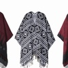 Feria Mode Women's Fringed Ruana Poncho