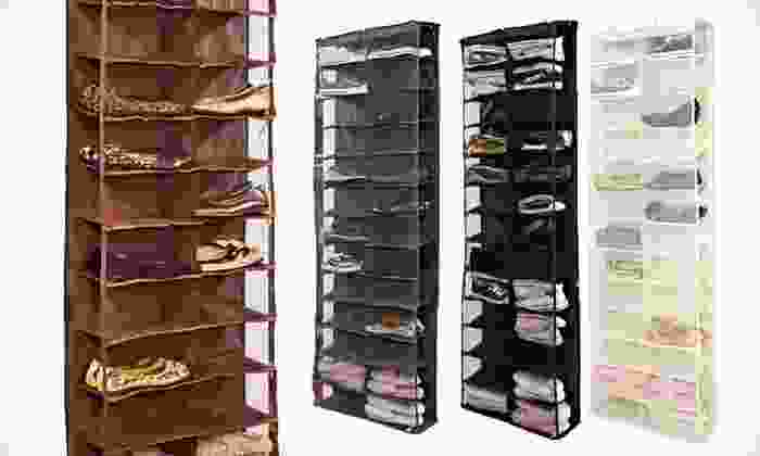 Over-the-Door Shoe Organizer: $21 for an Over-the-Door Shoe Organizer in Black, Chocolate, Cream, or Gray ($50 List Price). Free Shipping and Returns.