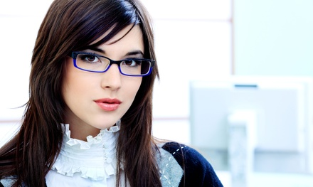 $59 for an Eye Exam and $175 Credit Toward Prescription Glasses at Optical Zone  (Up to 84% Off)