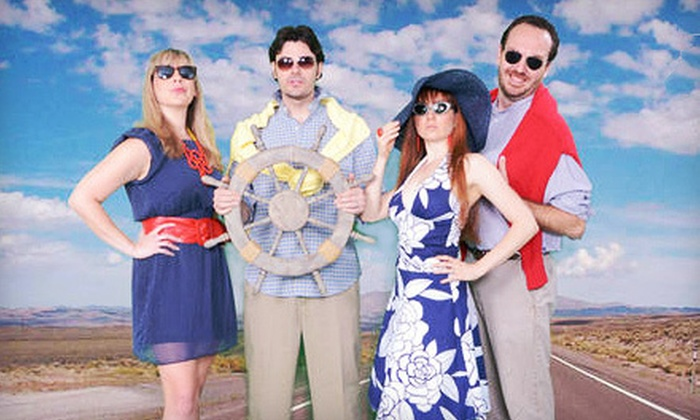 """""""Travelsty"""" - The Music Box Theater: Musical-Comedy Performance of """"Travelsty"""" for Two at The Music Box Theater (Half Off). 10 Shows Available."""