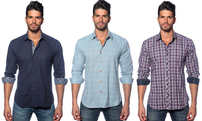 Jared Lang Button Down Shirt | Groupon Goods