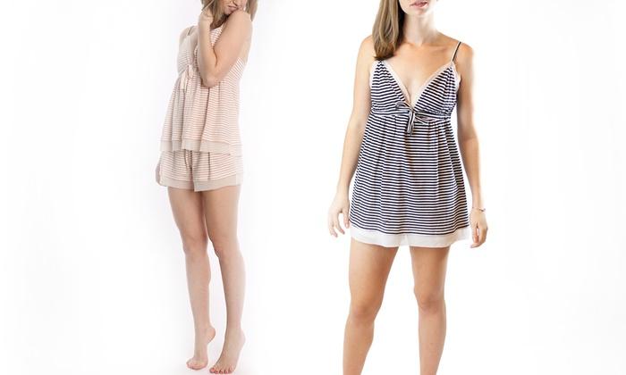 Pacifica Striped Cotton Women's Pajamas