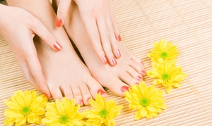 A Better Place: Gel Manicure with Optional Basic Pedicure at A Better Place (Up to 56% Off)