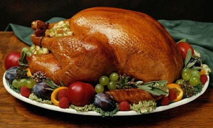 Dubai World Trade Center: Roasted Turkey with Trimmings and Optional Sides at Dubai World Trade Center (Up to 44% Off)