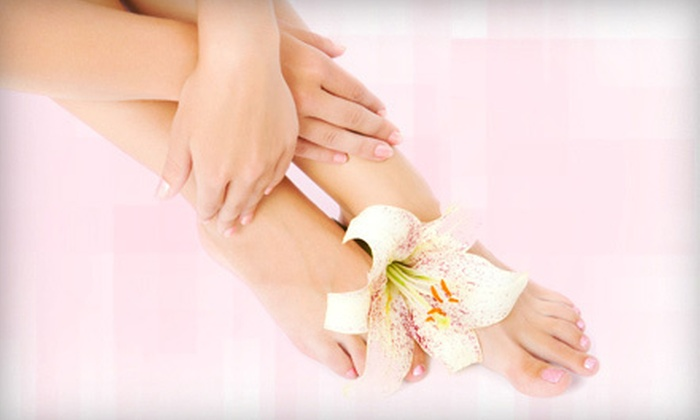 Star Nails and Spa - Golden Beach Marketplace: $25 for a Deluxe Manicure and Athletic Spa Pedicure at Star Nails and Spa ($55 Value)