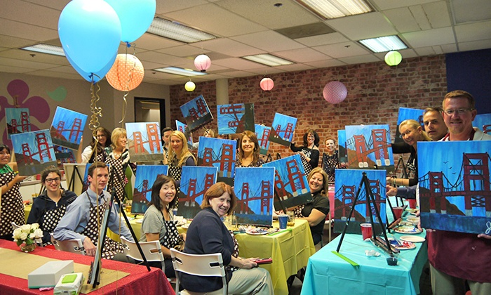 Vino artist up to 56 off santa clara ca groupon for Groupon wine and paint