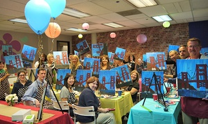 Vino Artist: Painting Class with Complimentary Wine and Snacks for One, Two, or Four at Vino Artist (Up to 52% Off)