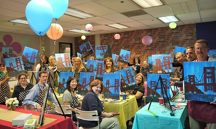 Painting Class with Complimentary Wine and Snacks for One, Two, or Four at Vino Artist (Up to 52% Off)