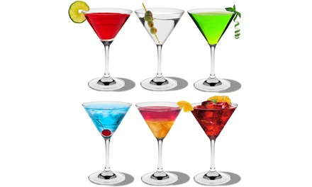 6, 12 or 24 Rink DrinkCrystal Martini Cocktail Glasses