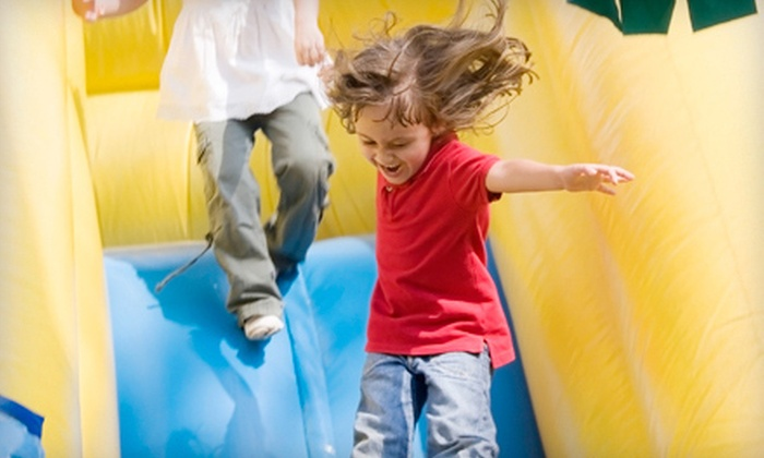 Monkey Joe's - Greensboro: $6 for Inflatable Play Time with One Bag of Popcorn and a Soda at Monkey Joe's (Up to $13.18 Value)