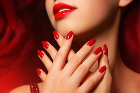 Hairs & Graces: Gel Manicure, Pedicure or Both at Hairs & Graces (Up to 53% Off)