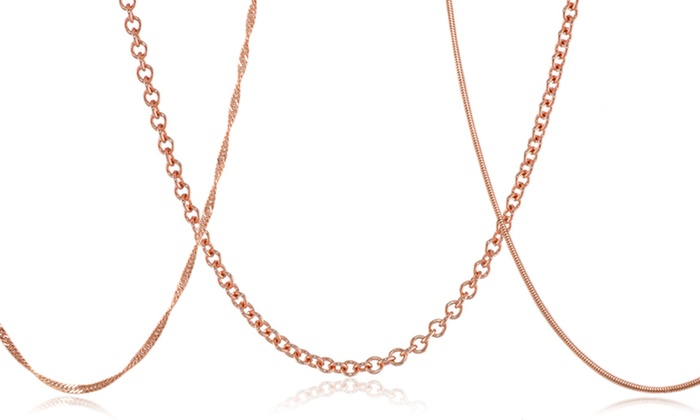 18k Rose-Gold-Plated Chain Necklace: 18k Rose-Gold-Plated Chain Necklaces. Multiple Options Available from $11.99–$16.99. Free Returns.