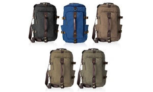 Canvas Messenger Backpack