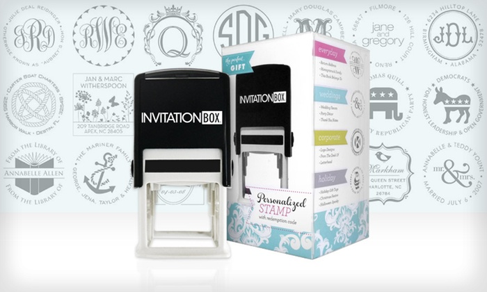 Personalized Self-Inking Stamper: $29.99 for a Personalized Self-Inking Stamper from InvitationBox ($49.99 List Price). Free Shipping.
