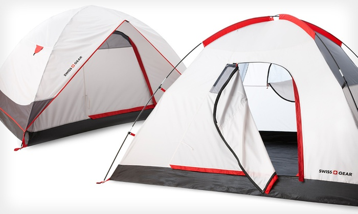 Swiss Gear Alpine Peak Tent: Swiss Gear Alpine Peak Two-Person or Four-Person Tent (Up to 55% Off)
